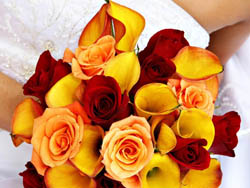 Malta Wedding Inspirations - Red and Yellow Wedding Bouquet