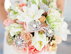 Malta Wedding Inspirations - A Modern Wedding Bouquet with Silver Decorations
