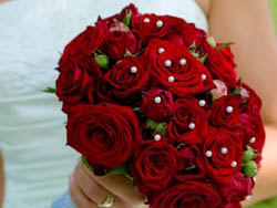 Malta Wedding Inspirations - Red Roses Wedding Bouquet