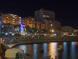 Bugibba Promenade Night