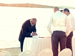 Lauren and Chris Wedding in Malta - Set Wedding Registrar and Groom's Party gettting ready