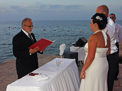 Bride and Groom in Malta saying their vows