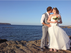 Sinead and Peter - Kissing near the Mediterranean Sea