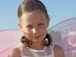 The cute butterfly flowergirl