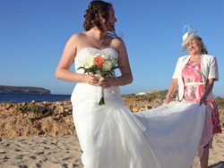 The bride enjoying some special moments with her mum