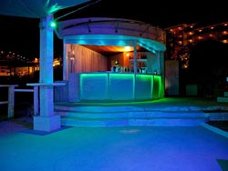 Modernly Lit Bar at The Ocean Reef